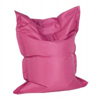 Comfortable and design pink beanbag, with strong cover