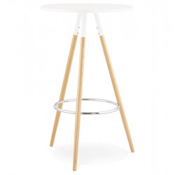Table haute design LARRY (BLANC)