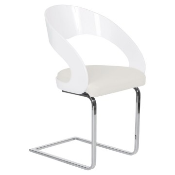 Comfortable and design WHITE chair MONA