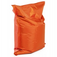 Comfortable and design orange beanbag, with strong cover