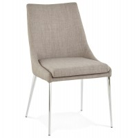 Gray retro chair with chromed metal legs BOXER