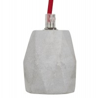 Polyresin grey lamp suspension for 40w bulb