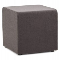 Dark gray pouf covered with a soft and durable fabric