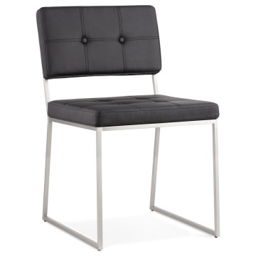 Padded BLACK chair with retro modern look GAMI