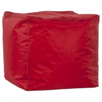 Beautiful and cosy red beanbag in textile