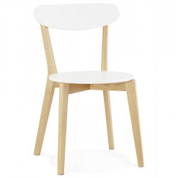 White chair with Scandinavian design KAY