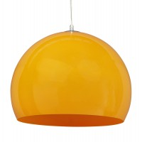 Suspension de lampe orange en plastique ultra résistant