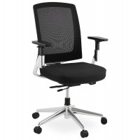 Black office chair with textile upholstery for real comfort and many adjustments