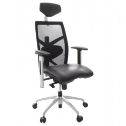 Comfortable and ergonomic BLACK office chair OSAKA