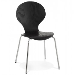 Stackable design chair PERRY (BLACK)