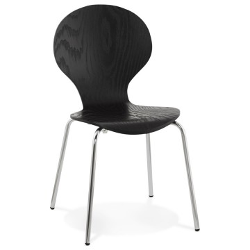Chaise NOIRE empilable design PERRY