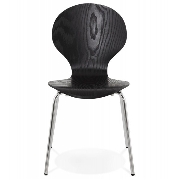 Image 2 Chaise Empilable Design PERRY NOIR