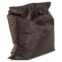 Comfortable and design big format brown beanbag, with strong cover