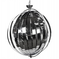 Suspension de lampe modulable chromée, avec structure en métal EMILY CHROME
