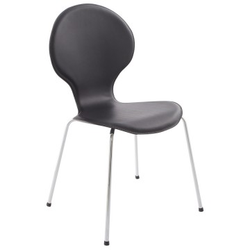 Chaise design empilable avec assise confortable VLIND (NOIR)