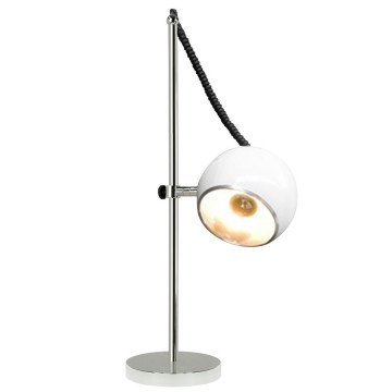 Adjustable and orientable WHITE designer lamp MOON