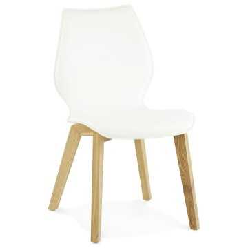 Vintage WHITE chair with scandinavian design SIRET