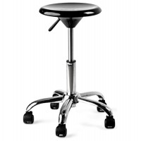 Black low stool ARCHI