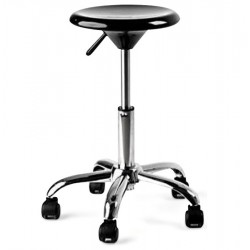 Adjustable Black low stool ARCHI