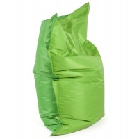 Comfortable and design green beanbag, with strong cover