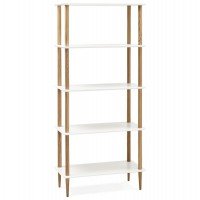 White storage shelving with Scandinavian style BRETO