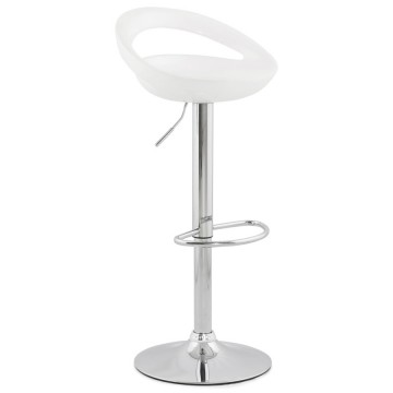Adjustable and swivel WHITE bar stool VENUS