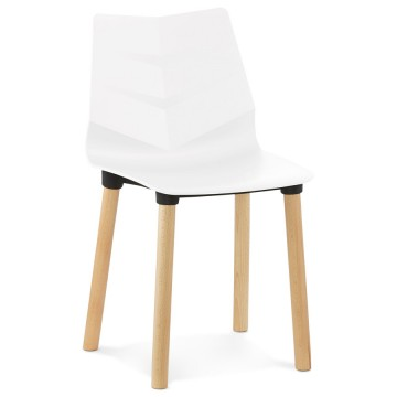Original WHITE chair with scandinavian design TORRO
