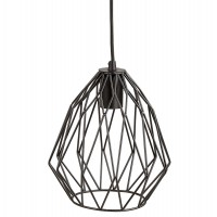 Vintage lamp with industrial style and black shade