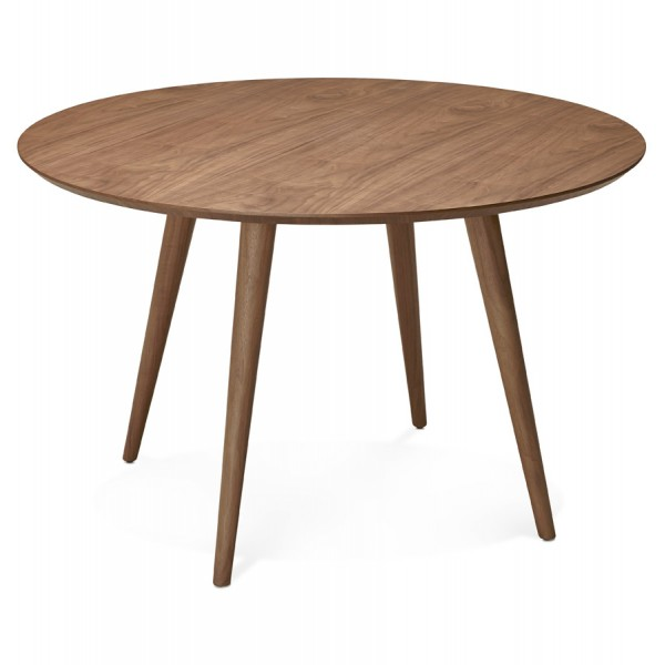 pretty round wooden table walnut color janet vistadeco rh vistadeco com round wooden table mats round wooden table top