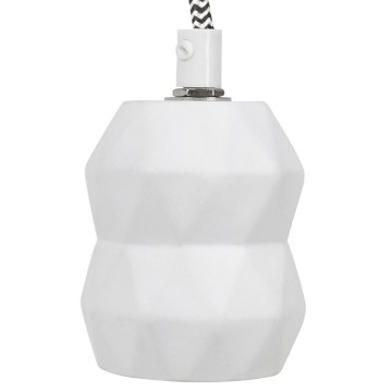 Trendy white hanging lamp ATUPA
