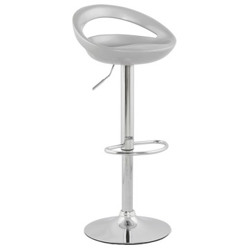Adjustable and swivel bar stool VENUS (SILVER)