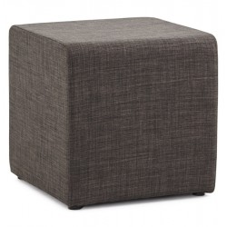 Dark grey striped footstool or footrest SEKIL