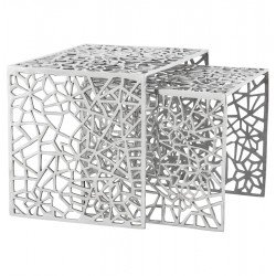 Beautiful side tables in polished aluminum BIKO