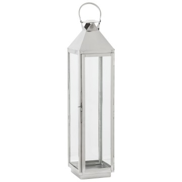 Retro-chic lantern in polished aluminium BALI (XL)