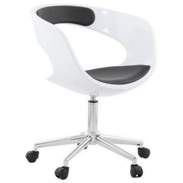 White an Black office chair comfortable and design FELIX