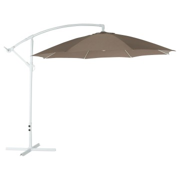 Grand parasol couleur taupe SUNA