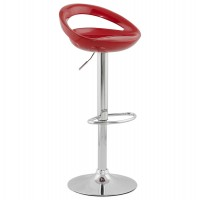 Red bar stool VENUS, swivel and adjustable