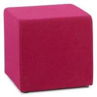 Pink pouf covered with a soft and durable fabric