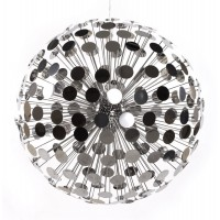 Faceted lamp in chromed metal for light shows DISCO