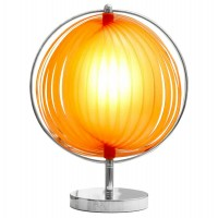 Orange bedside lamp, desk lamp or auxiliary lamp with ABS resistant lampshade
