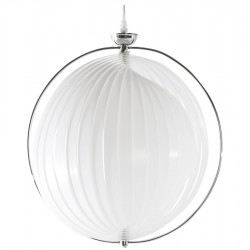 Suspension de lampe BLANCHE flexible et modulable EMILY