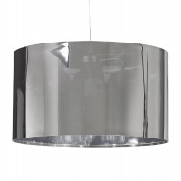 Lampshade chrome-colored metal cylindrical