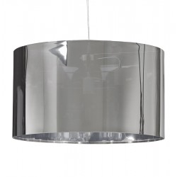 Beautiful cylindrical chromed lampshade TABORA