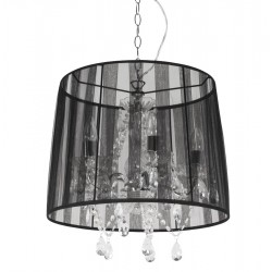 Suspension de lampe style chandelier CONRAD (NOIR)