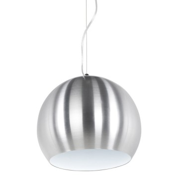 Suspension de lampe boule ALU et BLANC JELLY