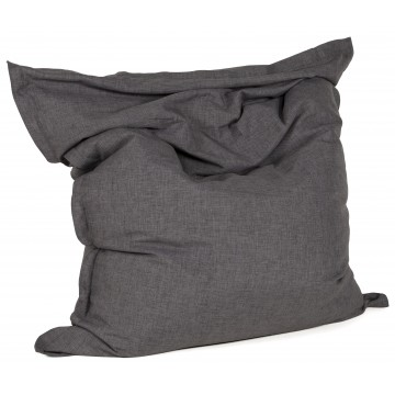 Giant dark grey footstool ZAK