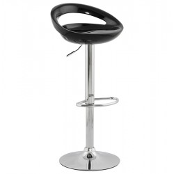 Adjustable and swivel bar stool VENUS (BLACK)