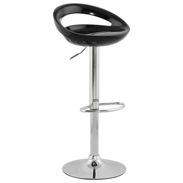 Adjustable and swivel BLACK bar stool VENUS