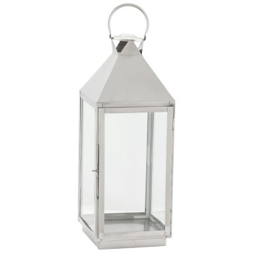 Retro-chic lantern in polished aluminium BALI
