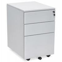 Grey lockable drawer box in metal
